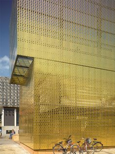 Metal Perforated and embossed sheet for facade TECU® Design_punch - KME Architectural Solutions