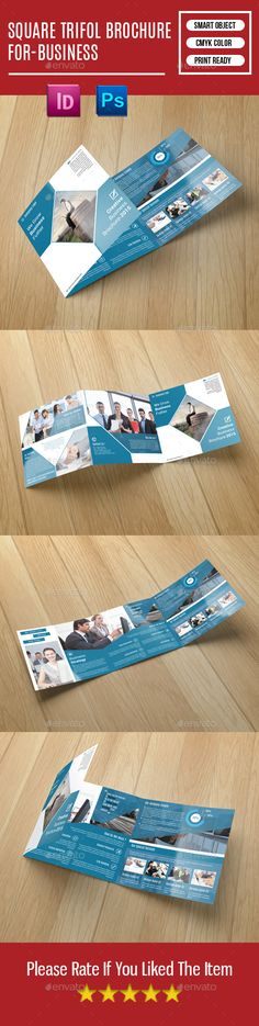 Square Trifold Brochure For-Business Template