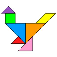 the solution for the tangram puzzle chicken