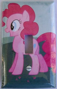 Custom light switch cover / plate. My Little Pony: Pinkie Pie. $6.00, via Etsy.