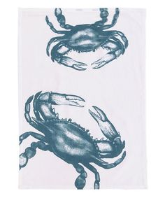 Loving this Crab Flour Sack Dish Towel - Set of Two on #zulily! #zulilyfinds