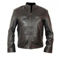 Furious 7 Dominic Toretto Black Biker Leather Jacket