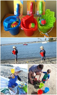 Beach toys and tips for having the perfect beach day with kids! #AwayWeGo