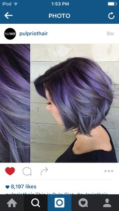 Purple lavender ombre hair ❤️