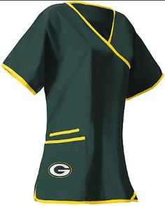 Green Bay Packers Women's NFL Scrub Top