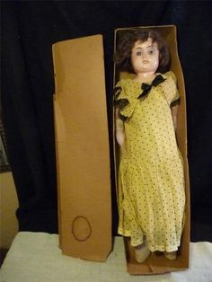 IN BOX  All Original Antique Metal Head Child DOLL1910 Minerva Glass Eyes in Orig Box | eBay