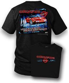 vFlea.comCorvette on a new large black tee shirt 2 sided print