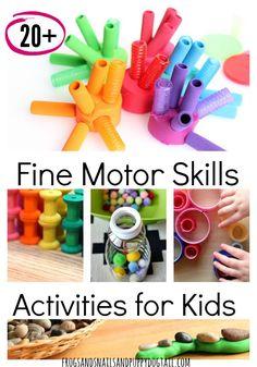 Fine Motor Skills Activities for Kids - FSPDT