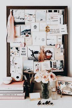 Take A Peek Inside Sara Mueller's Pretty Pink Home // desk inspiration / office interior design / office decor ideas / creative office space / dream workspace / office inspiration Desk Inspiration, Decoration Inspiration, Decor Ideas, Fashion Inspiration, Decorating Ideas, Decorating Websites, Moodboard Inspiration, Wood Ideas, Bedroom Inspiration
