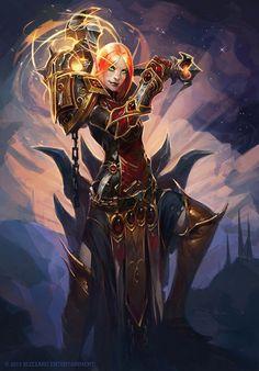 World of Warcraft, Blood Elf Paladin Fantasy Women, Fantasy Girl, Dark Fantasy, Fantasy Races, Fantasy Warrior, Paladin, Fantasy Characters, Female Characters, Female Heroines