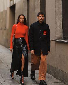 T Shirt Streetwear, Style Streetwear, Couple Outfits, Couple Goals, Leather Skirt, Street Wear, Alice, Mood, Street Style
