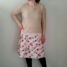 C.J. Banks A-line Floral Skirt 16 Pink Like new. Lined. Cotton C.J. Banks  Skirts A-Line or Full