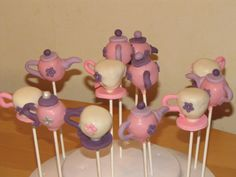 more teapots and cups