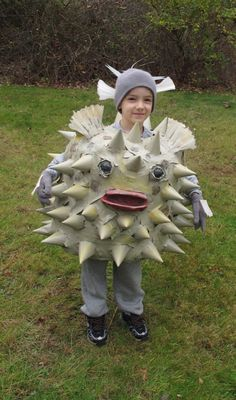 Jelly fish costume made from recycled plastic grocery bags for Puffer fish costume
