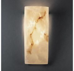 Justice Design Group FAL-5135 1 Light Faux Alabaster Wall Washer Sconce from the LumenAria Collection Image