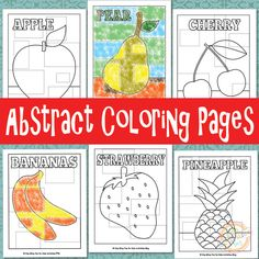 Abstract Coloring Pages Free Kids Printable for #artsed @4kidsactivities / Fichas para #edplástica