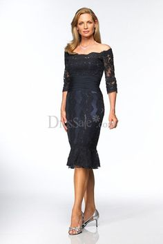Delicate Laced Mother of the Bride Dress
