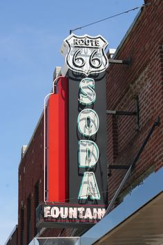A Route 66 sign in Baxter Springs, Ks., photo by Neil Croxton