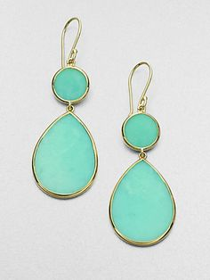 IPPOLITA - Mint Chrysoprase and 18K Yellow Gold Drop Earrings - Saks.com
