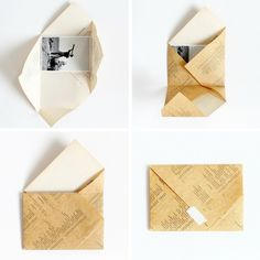 Origami envelope letters gifts Ideas for 2020 Tutorial Envelope, Envelope Diy, Envelope Origami, Envelope Design, Fold Paper Into Envelope, Origami Letter, Origami Box, Letter Folding, Paper Folding