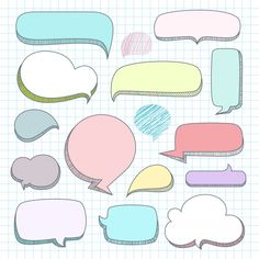 icu ~ Set of speech bubbles Premium Vector ~ This Pin was discovered by Marcelle Joubert. Discover (and save) your own Pins. Bullet Journal Banner, Bullet Journal Art, Bullet Journal Ideas Pages, Printable Stickers, Cute Stickers, Calendar Printable, Journal Stickers, Planner Stickers, Washi Tape