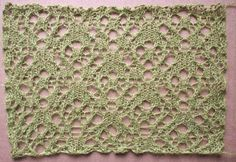 Journey: a free lace knitting stitch pattern by Naomi Parkhurst