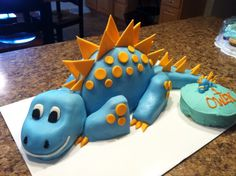 Dinosaur first birthday cake