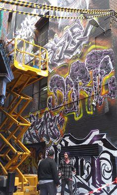 Hosier Lane Street Art - 10 November, 2013.
