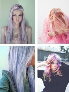 Unicorn hair #dipdyed