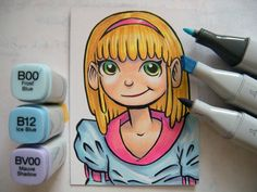 Creating Sketch Cards With Copic Markers