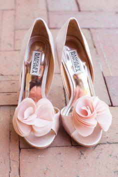 Pink Badgley Mischka wedding shoes: http://www.stylemepretty.com/california-weddings/santa-barbara/2014/11/10/colorful-santa-barbara-wedding-2/ | Photography: Jessica Fairchild - http://jessicafairchild.com/