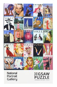 #Vogue100 jigsaw puzzle, featuring 25 covers of British Vogue