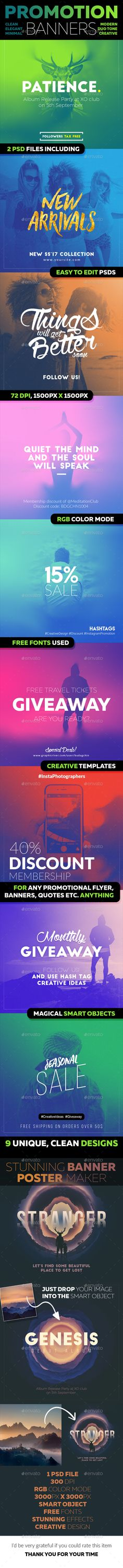 10 Creative Instagram Banners, Posters and Flyers — PSD Template #creative design #Quotes templates • Download ➝ https://graphicriver.net/item/10-creative-instagram-banners-posters-and-flyers/17844512?ref=pxcr