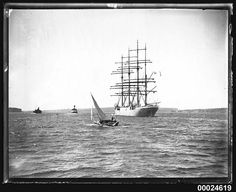 Four-masted barque MAGDALENE VINNEN departing Sydney, 29 March 1933 | Flickr - Photo Sharing!