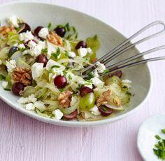 Trauben-Fenchelsalat mit Walnuss, Birne und Fetakäse #Dinner #Lunch