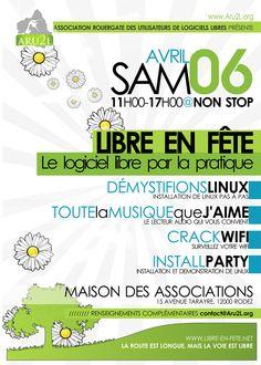 Poster for «Libre en fête» 2013 Creation: mars 2013 - France