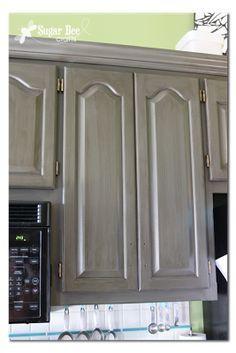 "Kitchen Cabinet - Reveal!! (thanks Rustoleum!) - Sugar Bee Crafts colour - ""castle"""