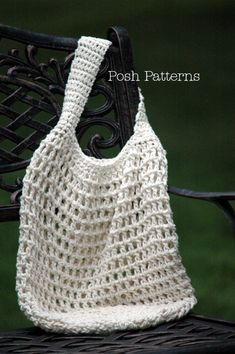 Crochet PATTERN Crochet Market Bag Pattern por PoshPatterns