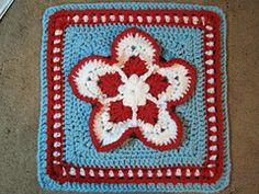 Ravelry: Strawberry Blossom Afghan Square pattern by Julie Yeager