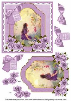 Lavender Fairy Belated Wishes 6in Floral Step by Step on Craftsuprint - Add To Basket!