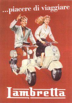 Lambretta - vintage italian poster image