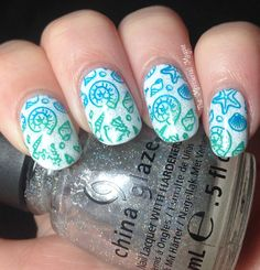 Beachy Multicolor Stamping with Moyou London Sailor 07