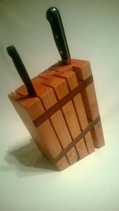 Maple Knife Block  Sustainably Harvested Wood by TheAuroraArtisan, $95.00