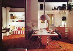 1970s Milan apartment   Architect Claudio Dini THE NYT BOOK OF INTERIOR DESIGN AND DECORATION  ©1976