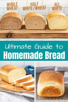 The Ultimate Guide to Homemade Bread starts with a classic base recipe and then covers all of the common substitutions to guide you in customizing your bread to your own needs so you can create your own perfect loaf. # Ultimate Guide to Homemade Bread Bread Machine Recipes, Banana Bread Recipes, Recipes With Bread, Challah Bread Recipes, Artisan Bread Recipes, Best Bread Recipe, Snack Recipes, Dessert Recipes, Desert Recipes