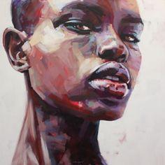 Acrylic Portrait Painting, Black Art Painting, Afro Painting, Portrait Paintings, Inspiration Art, Art Inspo, L'art Du Portrait, African Art Paintings, Art Visage