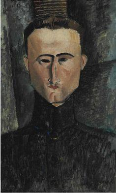 AMEDEO MODIGLIANI (1884-1920) PORTRAIT DU PEINTRE ROUVEYRE