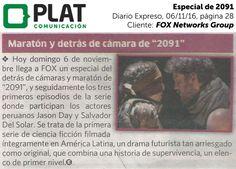 FOX Networks Group: Especial de 2091 en el diario Expreso de Perú (06/11/16)