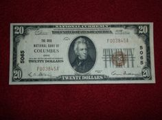 1929 20 Dollar Type 1 national Bank of by CheatumsBargains on Etsy, $150.00