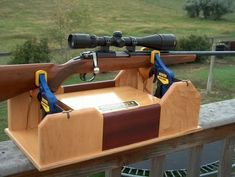 Image result for rifle cleaning stand plans